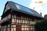 Installation solaire intégrée sur toit