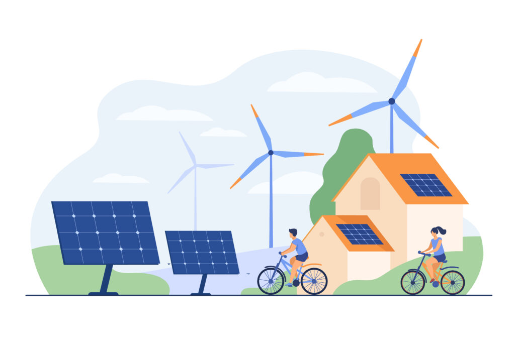 Installation de panneaux solaires sur une maison et au sol