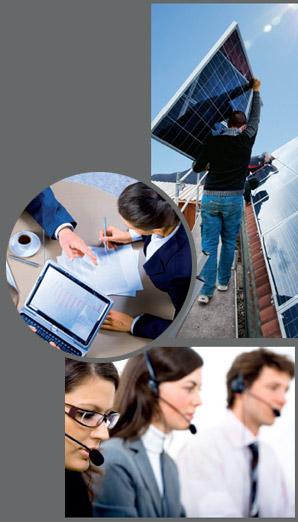 Montage d images pour installation photovoltaïque et conseiller en énergie